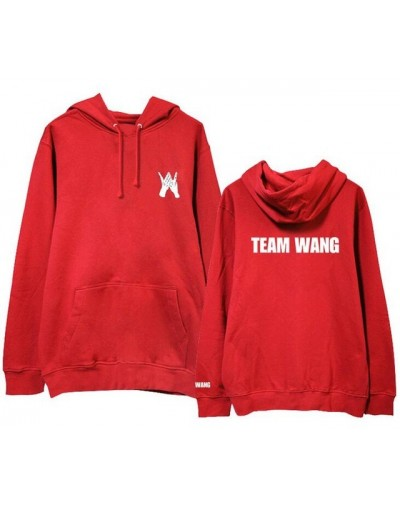 Kpop got7 jackson team wang same printing fleece/thin pullover hoodies for i got7 autumn winter unisex sweatshirt - fleece r...