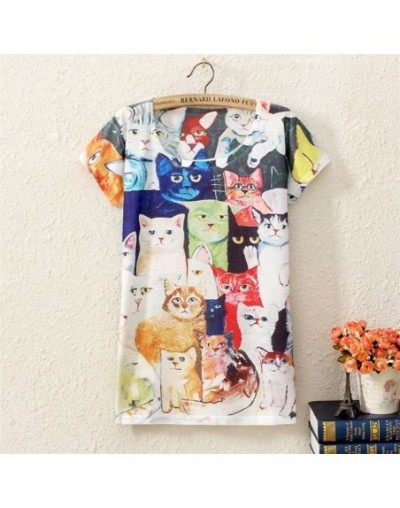 2017 New Fashion Vintage Spring Summer Animal Digital Printing Women's Short Sleeve T-shirt Cotton Blend Printed Tee T Shirt...