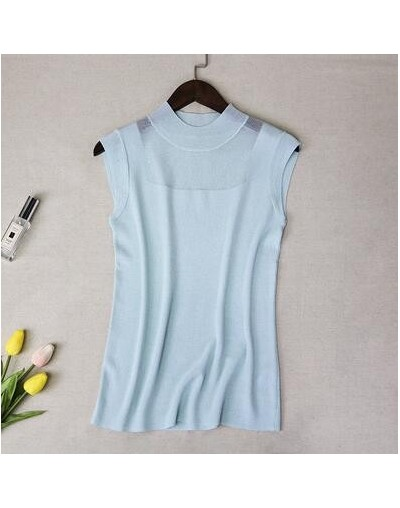 Hollow Out Tank Tops Women Summer Lce Silk Sexy Knitted Vest Top Sleeveless Casual Korean Tops Elasticity Solid Slim Pullove...