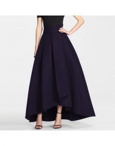 2016 England High Low Long Skirts For Women Navy Blue Old Green Black Long Skirt Women Clothing Pleat Maxi Skirt - Sky Blue ...