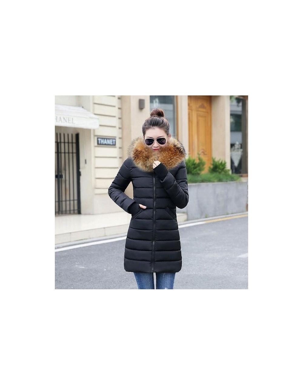 Winter Coat Women 2019 New Fashion Winter Jacket Women Fake Raccoon Fur Collar Women Parkas Warm Down Jacket Female outerwea...