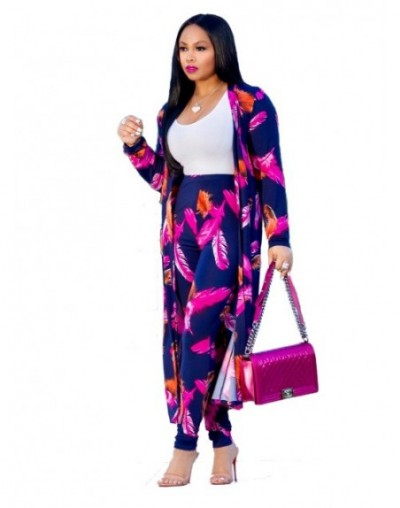 Summer 2 Piece Set Women Cardigan Long Trench Tops And Bodycon Pant Suit Casual Clothes Boho Sexy Two Piece Outfits 2019 - M...