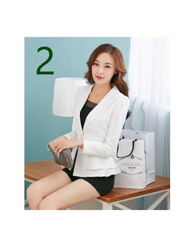 New Fashion One Button women Blazer Jacket Office Lady Casual Blazer - 61722 Black Plaid - 4C3075101287-2