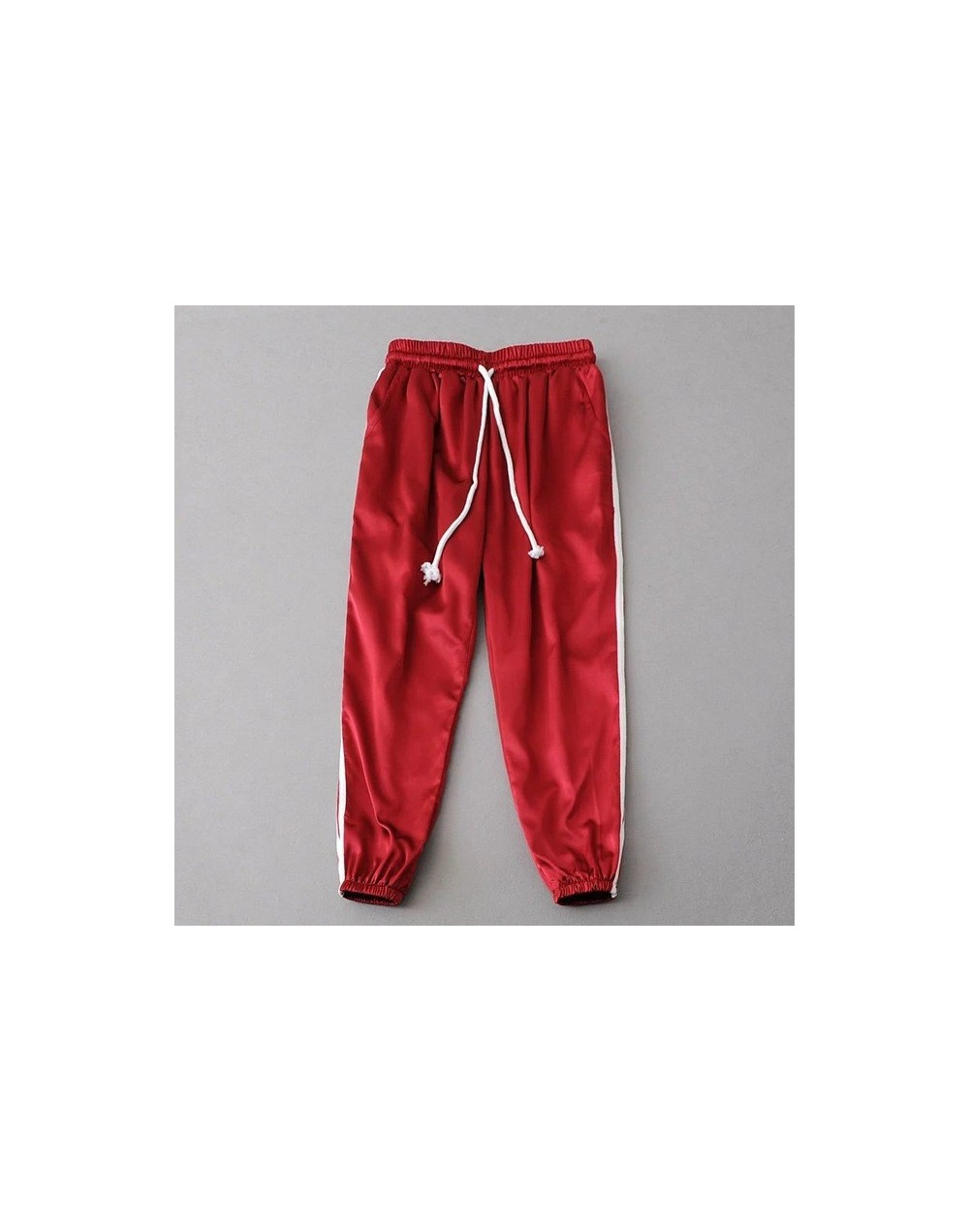 Women Sweatpants New Hot Style Casual Trousers Women Loose Slim High Waist Drawstring Harem Pants Fashion Silk Piece Pants -...