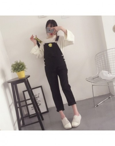 New Fashion Kawaii Women Jumpsuits Cartoon Printed Female Pocket Females Jumpsuit Candy Colors Student Style Womens Overalls...