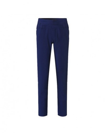 MIND FEET Plus Size Middle Waist Harem Women Casual Pants Summer Thin Straight Long Trousers Sexy Female Pencil Pants - blue...