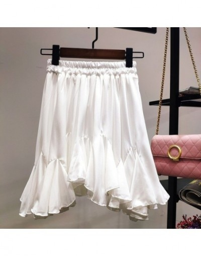 High Grade Pleated irregular skirt New 2019 Layering Women Fishtail Skirt Gauze High Waist Fairy Solid Color Ball Gown Skirt...