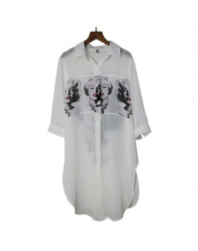 Fashion Chiffon Blouse Women 2019 Summer Digital Printing Long Sun Protection Shirt Female Elegant Casual Tops Chiffon Shirt...