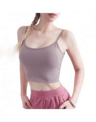 New Camisole Quick Dry Fitness Crop Top Women Sexy U Back Tank Top Thin Vest Causal Bralette Workout Tanks Cropped feminino ...