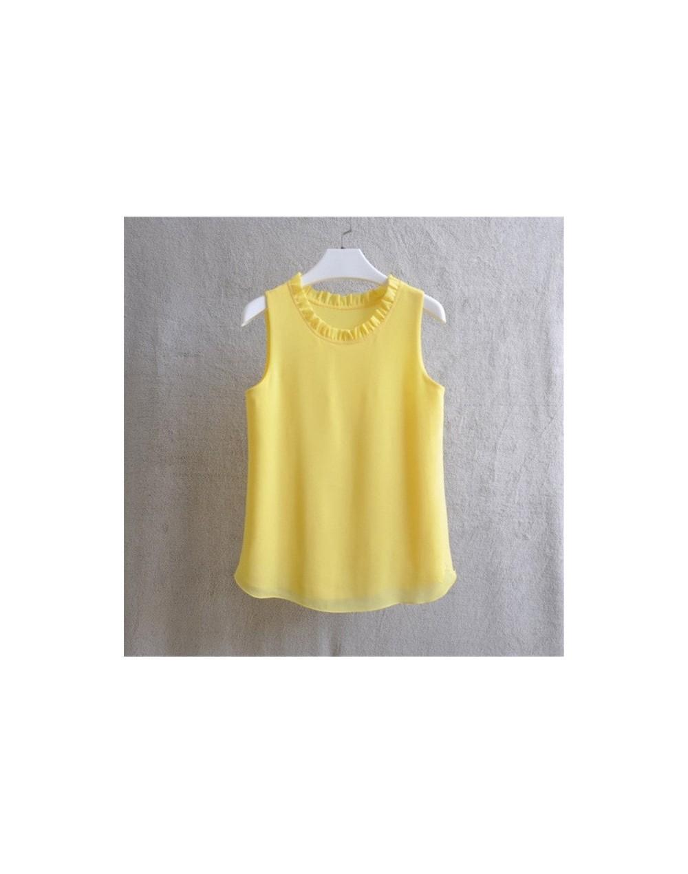 21 Colors Solid Ruffle Chiffon Blouse Women 2019 Summer Fashion Vest Blusas Casual Loose Sleeveless Ladies Tops Shirt - 4198...