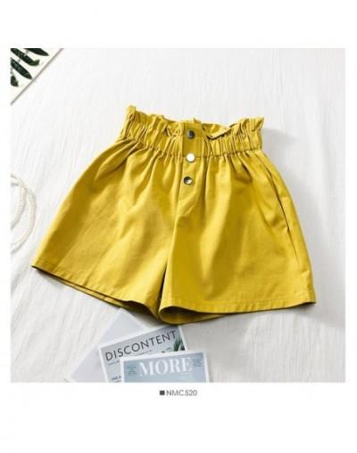 Spring Women Shorts Femenino Plaid Lady Hot Short Student Panties Drawstring Shorts Femme With Buttons Casual Shorts 2019 - ...