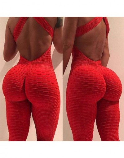 2019 Coloured Dresses Women Push On Tight Pants Dresses Sleeveless Back Nude Room Sexy Women Fitness Exercise Combination - ...