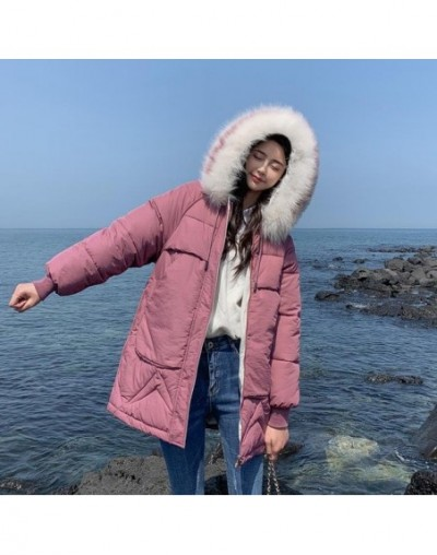 2019 women fur Hooded Parka feminino female jacket Coat plus size winter jacket women Casual Down Cotton Long Padded Parkas ...