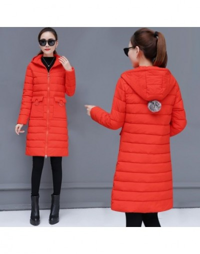 Hooded Long Parka Female Quilted Jacket Woman Winter Coat Solid Color Thick Slim Cotton Padded Outwear Warm Clothing 2019 Ok...