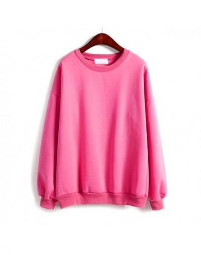 New Hot Autumn Winter Women Fleeve Hoodies Solid Casual Sweatshirt Loose Tracksuit Pullover Tops YAA99 - White - 444152692087-8