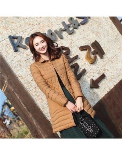 Autumn Winter Basic Jacket Cotton Coat 2018 Fashion Women Warm Long Parka High Quality Casual Pocket Slim Mujer Outerwear ls...