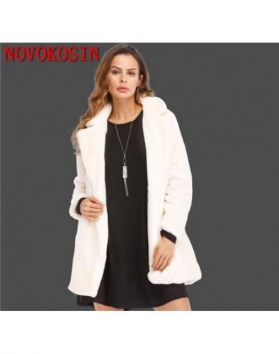 S-4XL Winter Warm Plus Size Open Stitch Slim Black Plush Coat 2018 Women Faux Rabbit Fur Loose Cardigan Ladies Thick Long Co...