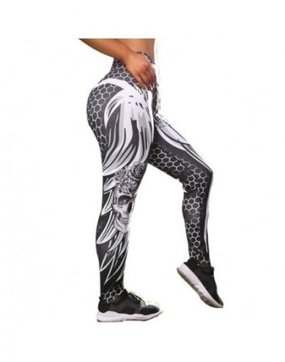 2019 Skull Print Leggings High Waist Leggins Female Fitness Pants Sexy Hips Push Up Trousers Women Workout Sports Pants - 1 ...