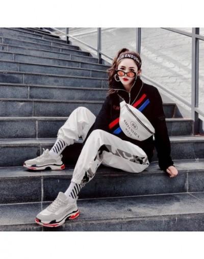 Hip Hop Women High Waist Loose Harem Pants Fashion Female Slim Pants Hip Hop Casual Trouser - White - 493025032746-2