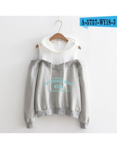 2018 Riverdale Hoodies Sweatshirt women Streetwear cottoong Sleeve Exclusive Kpop Fashion Off-shoulder Sweatshirt plus size ...