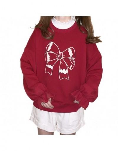 Lovely Red Women Hoodies 90s Clothes Japanese Lolita Kawaii Oversized Teenage Girl Pullover Cute Graphic Christmas Sweatshir...