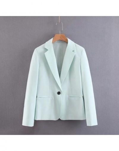 2019 OL Green Two Piece Suit Set Women Spring Summer Single Button Blazer Jacket High Waist Women's Pant Suits Office 2 Piec...