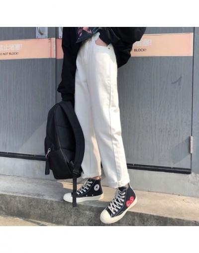 S-L 3 colors 2019 autumn korean chic style women denim Pants Casual high waist jeans for women straight pants (X257 - Black ...