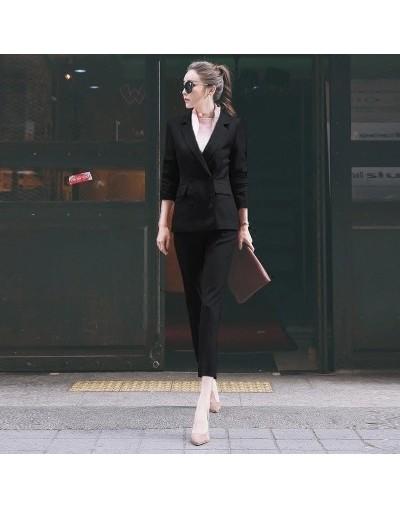 Women Pant Suits New Casual suit female British style temperament lady small suit + nine pants two suit Ladies Office Set - ...
