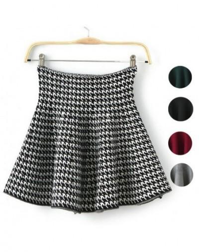 2015 New Autumn Winter Short Skirts Woman High Waist Knitting Woolen Skirt Female Plus Size Pleated Skirt C028 - 8 - 4W35053...