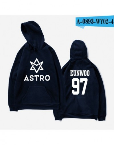 K-pop ASTRO Hoodies Moletom STAR Group Spring Women/Men Harajuku Sweatshirt Casual Hoodie Men/Women Hoodie Clothing - navy b...
