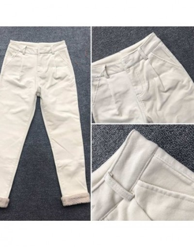 Thicken Lambs Wool Stitching Corduroy Casual Pants Women With Belt Warm Winter Pants Women Corduroy Trousers Harem Pants C51...