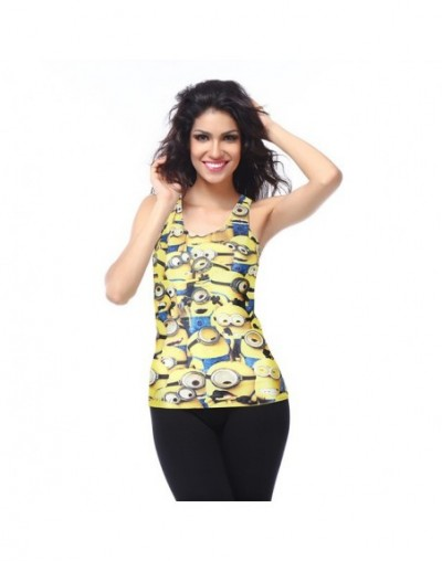 Classic Cartoon Mini Mouse Minions Tank Top For Women Fashion Printing Vest Tops Summer Ultra Lower Price - DBS1063 - 4S4139...