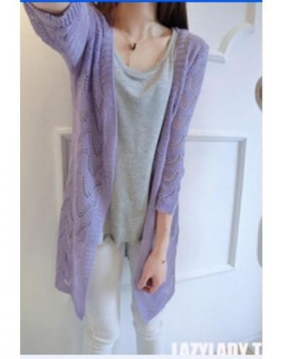 cardigan women sweater women sweaters cardigan fashion long knitted clothing knitwear ourwear 1pcs/lot kas96 - random color ...