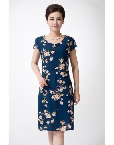 Xl-5xl 2019 Women Print Dresses Long Casual O-neck Cotton Dress Short Sleeves Mid-calf Plus Size Loose Vestidos Clothes - 2 ...