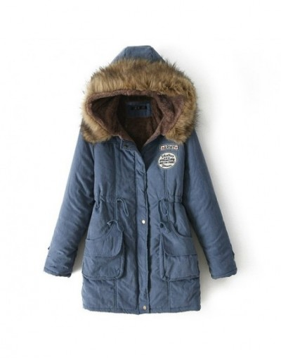 Women Parka Fashion Autumn Winter Slim Warm Jackets Women Fur Collar Long Coats Hoodies Jacket Plus Size Women Coats - jeanb...