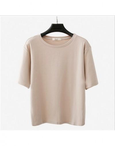 Fashion Solid Color Women Basic T-shirt Casual O-neck Tee Shirt Harajuku Summer Top Korean Hipster White T Shirt m-XXL Drops...