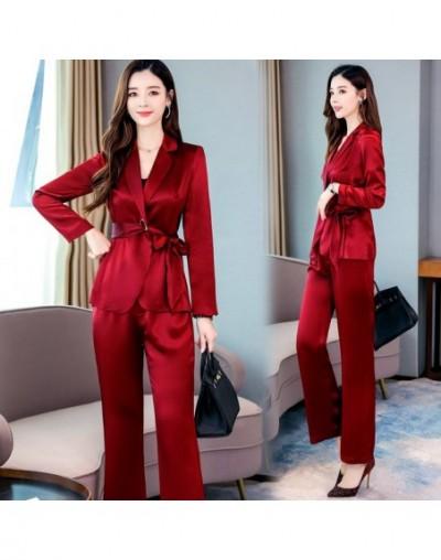 Female Trousers Set Women Two Piece Sets Autumn Outfit New Temperament Seven Sleeve Lapel Jacket + Pants High Quality Fit 2X...