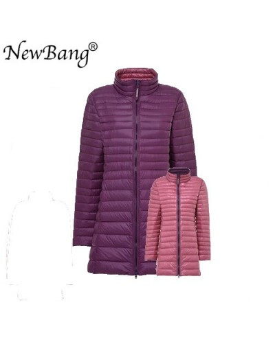 4XL Long Down Coats Women Hooded Ultra Light Down Jacket With Carry Bag Travel Double Side Reversible Jacket - LightPurple a...