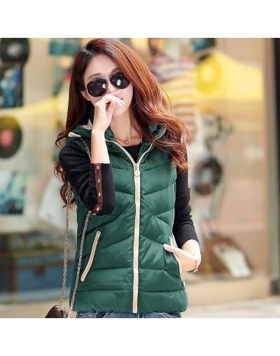 Women Winter Coats New 2018 Autumn Winter Sleeveless Hooded Slim Black Padded Jacket Female Plus Size Parka Short Feminino -...