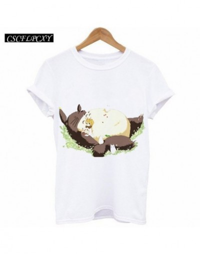 New 2017 Fashion Summer Brand Clothing Women T-Shirt Short Sleeve Totoro Tee Shirt Camisetas Mujer Femme Tshirt Tees - Brown...