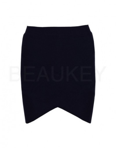 Red 2016 Rayon Sexy Women Mini Knitted Elastic High Waist Pencil Caged Bandage Skirt Wholesale Grey White Black Pink Blue Pu...