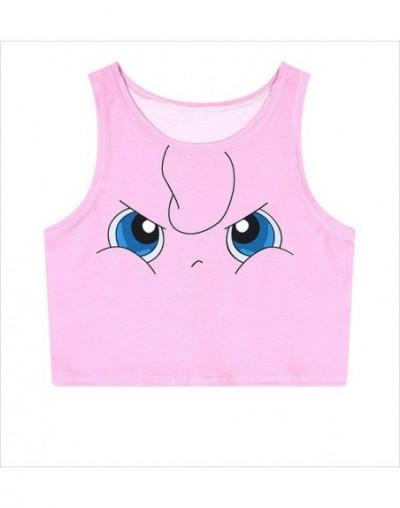anime vest Pokemon Pikachu Jenny Jigglypuff Cosplay costume girl women's t-shirt sleeveless short cotton vest shirt - 1 - 4O...