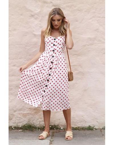 Button Striped Print Cotton Linen Casual Summer Dress 2019 Sexy Spaghetti Strap V-neck Off Shoulder Women Midi Dress Vestido...