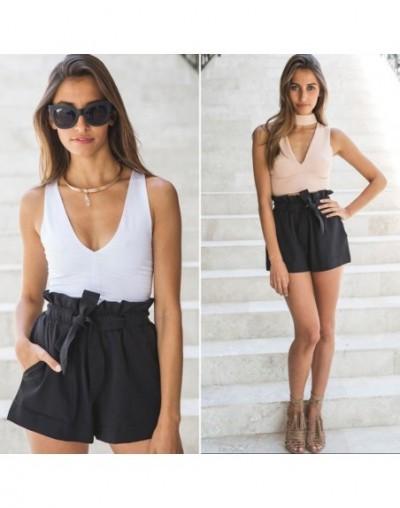 2018 hot sell pantalones Women Sexy High Waist Crepe Hot Short Summer Casual Mini Shorts Girls Shorts With Belt shorts - Bla...