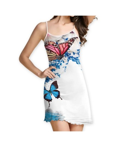 New 2018 Summer Dress Women Fashion Strapless Mini Party Dress Digital Print Sleeveless Slim Brief Casual Dresses - Silver ...