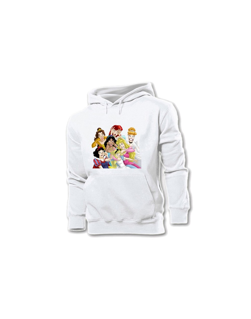 Happy Halloween Cartoon Candy Skeletons Skeleton Funny Princess seven Yellow Women's Pattern Hoodie Sweatshirt Hooded Pullov...