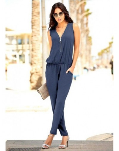 Sexy Sleeveless jumpsuit women long romper 2019 summer women lady Fashion trousers beach jumpsuit coveralls sexy female froc...