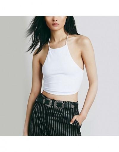 Summer Backless Cami Halter Crop Top Women Sexy Bustier Bralette Vest Bra New - NO.W vest - 4E4136241152-4