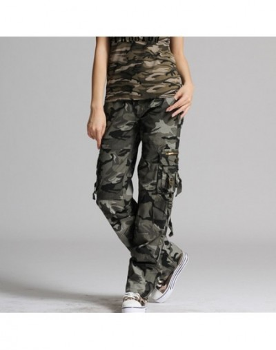 Women's camouflage pants woman cotton Multi-Pocket Casual loose female baggy Cargo Pants Military Plus Size Trousers - Camou...