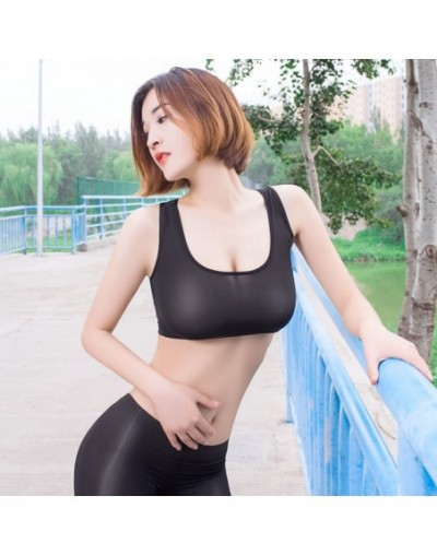 Sexy Women Candy Color Ice Silk Wetlook Transparent Thin Sexy Short Vest Low U Neck Tank Top Double Use Crop Tops Sexy Wear ...